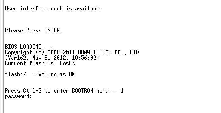 华为s5700 con密码 S5700 console 密码丢失问题