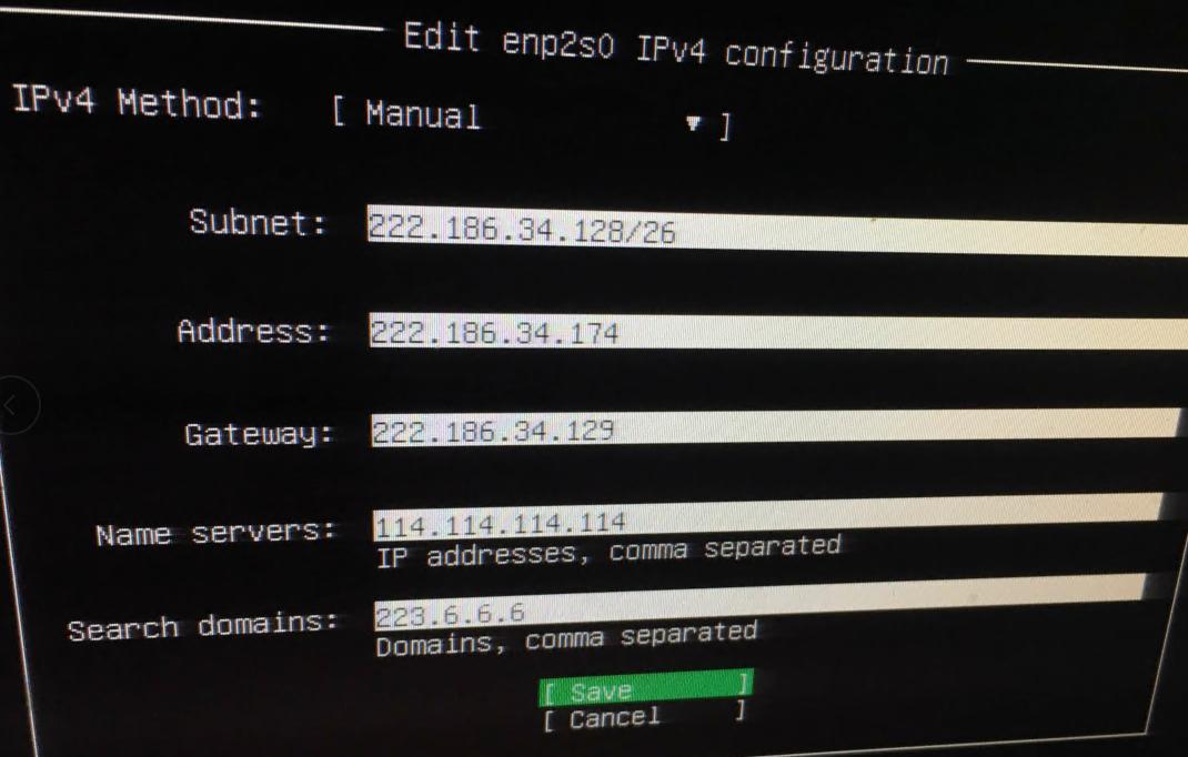ubuntu 18.04 IP配置方便 subnet配置参数 ubuntu 18.04安装的时候配置IP