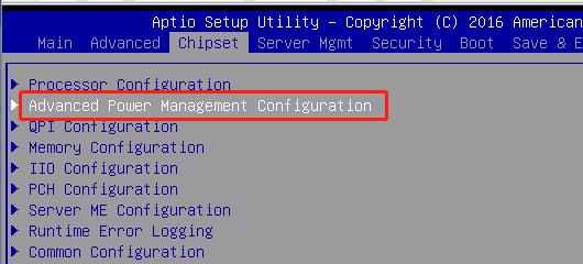 关闭服务器节能模式